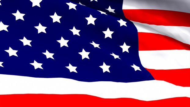 Highly Detailed 3d Render of an American Flag