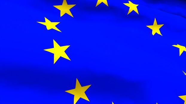Highly Detailed 3d render of an EU Flag