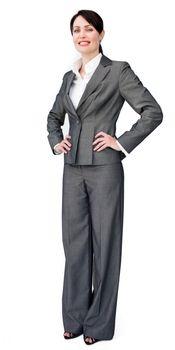Self assured businesswoman standing