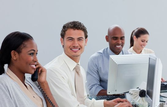 United business team at work