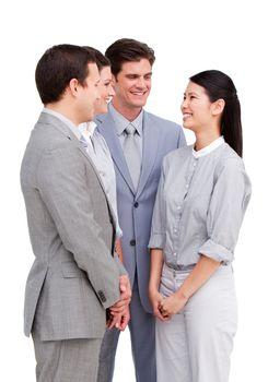 United business team having a talk