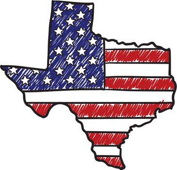 Texas si America sketch