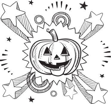 Halloween excitement sketch