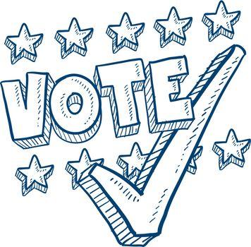 Vote in election sketch