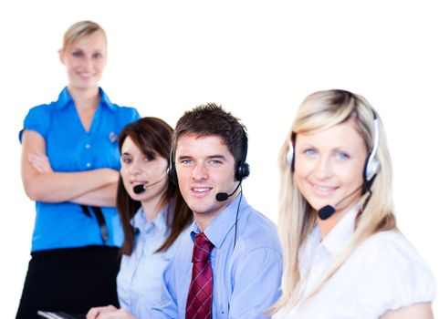 Group of operators in a call center