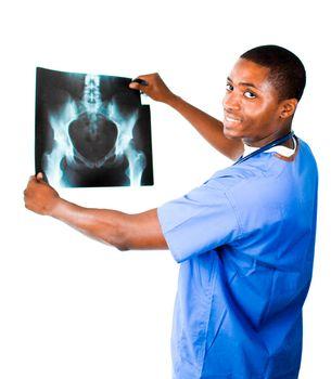 Doctor in Blue scrubs