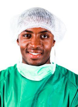 Senior Surgeon in Green scrubs