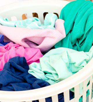 Close-up of a linen basket