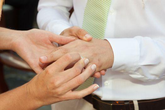 Marriage ceremony.