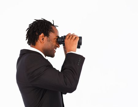 Searching for something with binoculars