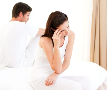 Unhappy couple having an argument