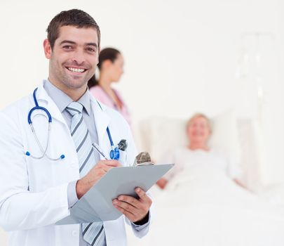 Confident chief physician in a hospital