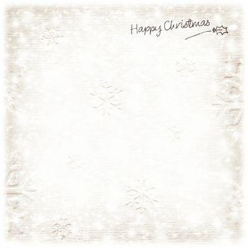 Beautiful silver Christmas card