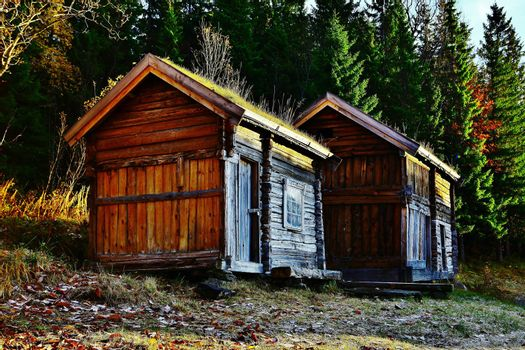 Timber cabins from the 18th century