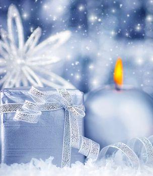Beautiful blue silver gift