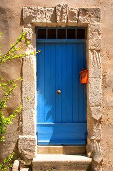 Blue Provence house entrance door