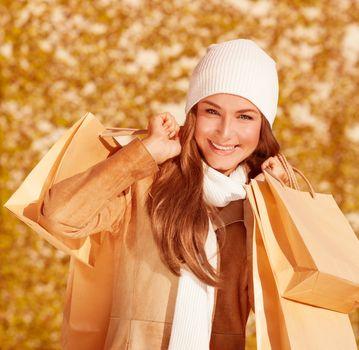 Portrait of shopper girl