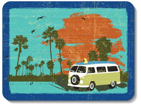 vintage wooden decoration wall with vacation