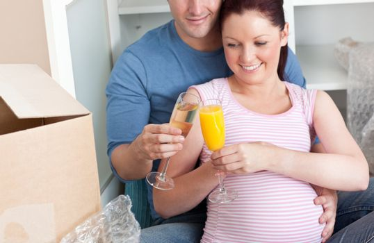 close-up of an adorable couple celebrating pregnancy and removal