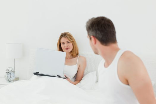 Man talking with her girlfriend