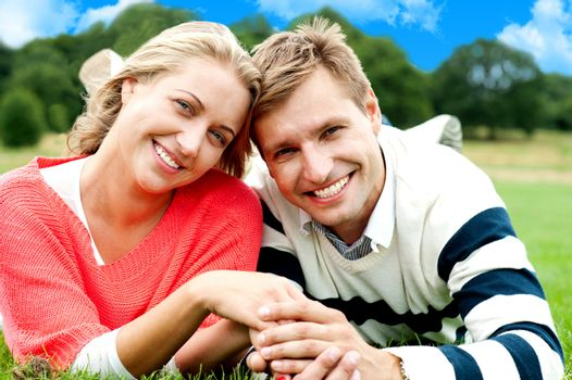 Attractive young couple in love. Great bonding