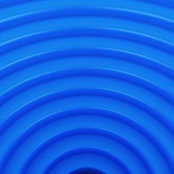 Blue arcs design, geometric background