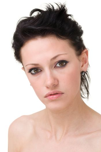 Young sensuality woman portrait