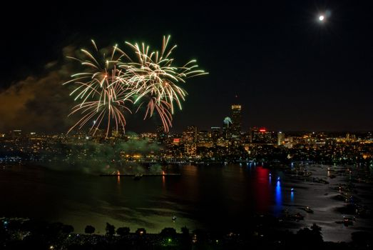 The 4th of July celebration in Boston, Massachusetts