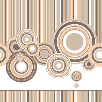 Creative design of a retro background with circles