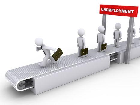 Running away from unemployment
