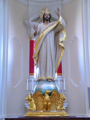 The statue of Christ The King of Paola, Malta.