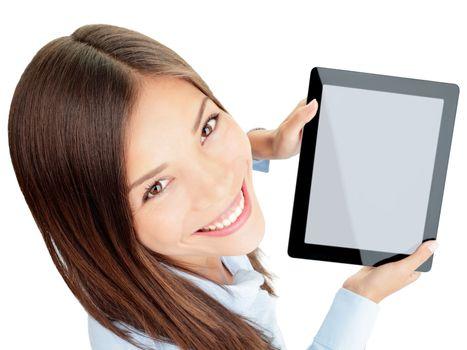 Tablet woman