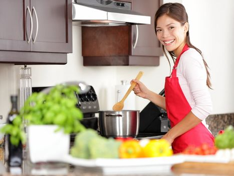 Cooking woman in kitchen