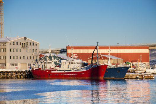 Ships at Tromso port