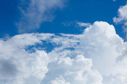 cumulus perfect sky with blue background