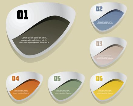 Set of label element, Illustration for vector design
