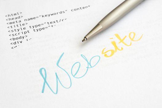 Website design concept