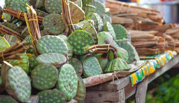 Lotus seed sell in market