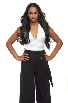 Mixed Race Girl Posing