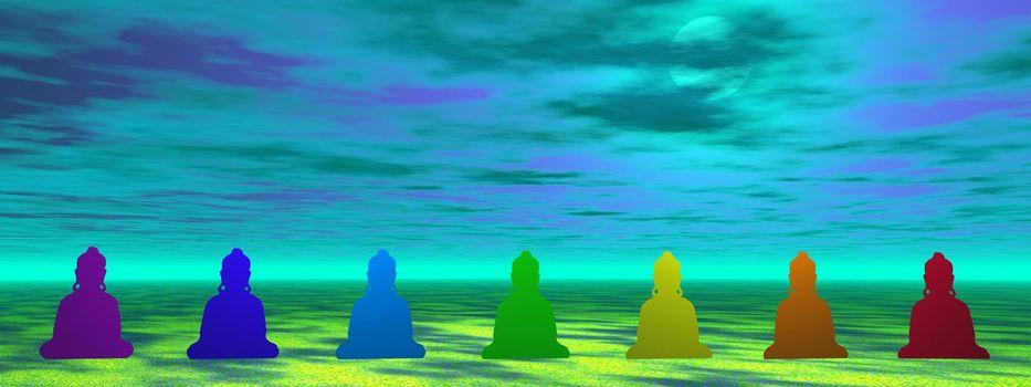 chakra and sky