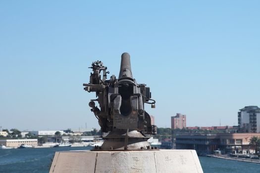 Cannon facing the port of Brindisi