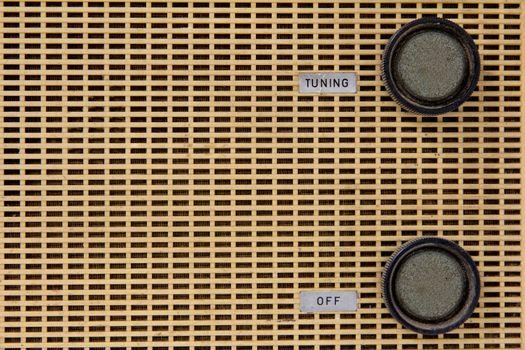 vintage radio knob