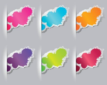 Collection of colorful grunge splatter