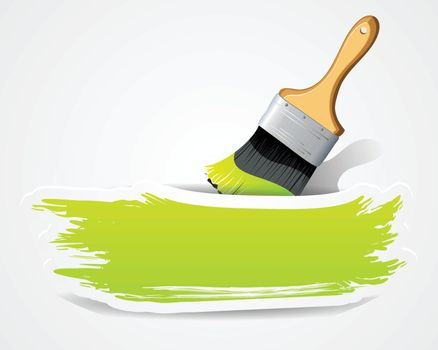 Paint brushes with space for your text
