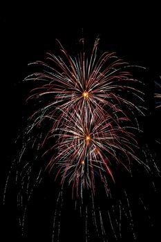 Closeup of fireworks