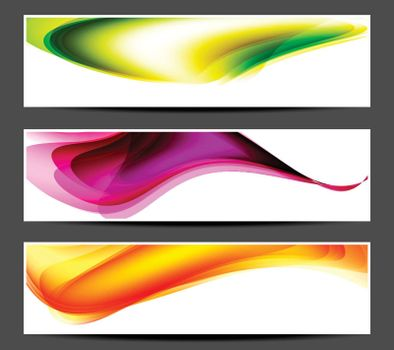 Colored abstract banner with place for your text