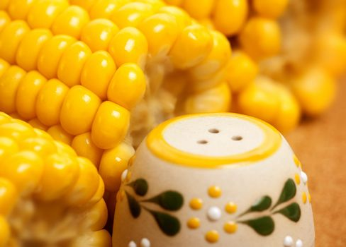 Maize with salt