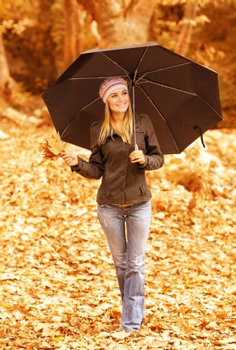 Cute girl with umbrella