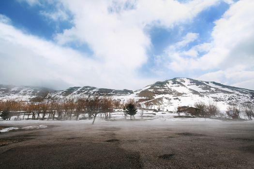 Snow at mountains