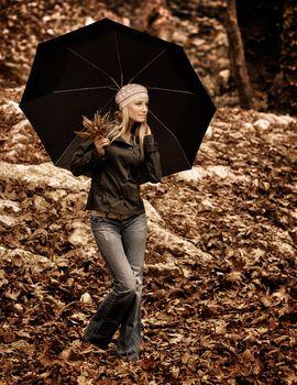 Beautiful girl with umbrella